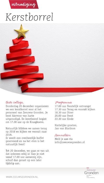 Kerstborrel Voor Alle Medewerkers Van Zeeuwse Gronden
