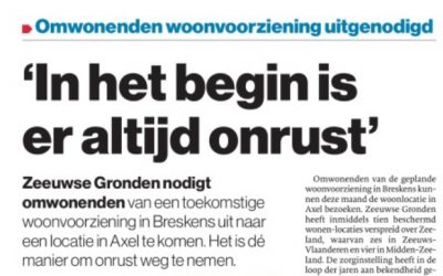 """In Het Begin Is Er Altijd Onrust"" (Jan Van Blarikom In De PZC)"